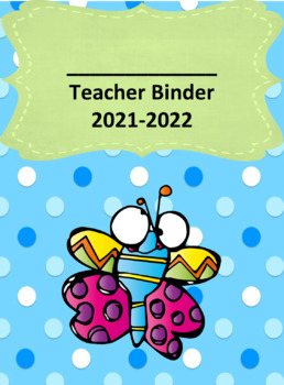 Cute Insect/Bug Themed Teacher Binder