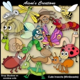 Cute Insects (Minibeasts) Clipart
