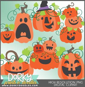Cute Jack O Lantern Halloween Clipart By Dorky Doodles Tpt