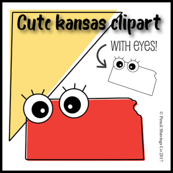Cute Kansas Clipart with Eyes!