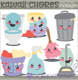 Cute Kawaii Chores Clipart