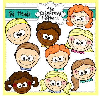 Cute Kid Heads Clip Art