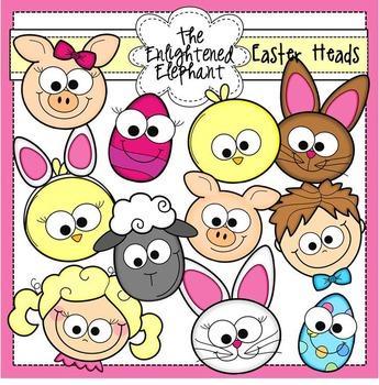Easter Heads Clip Art