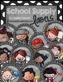 Cute Kidlette and Polka Dot School Supply Labels {Classroo