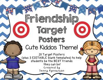 """Cute Kiddos"" BUNDLE! Scholar Targets, Friendship Targets, & Volunteer Forms!"