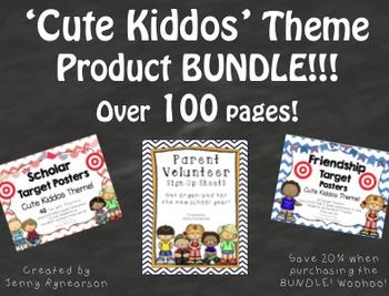 """Cute Kiddos"" BUNDLE! Scholar Targets, Friendship Targets,"