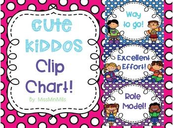 Cute Kiddos Clip Chart