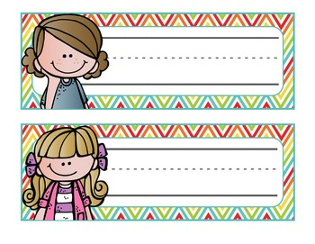 Cute Kiddos Personalized Desk Tags