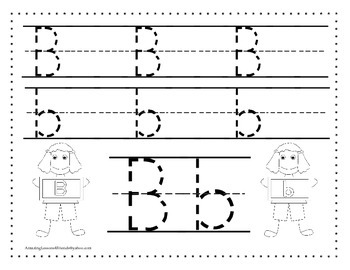 Cute Kids Alphabet Tracing Sheets Aa Thru Zz