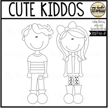 Cute Kiddos FREEBIE (Clip Art for Personal & Commercial Use)