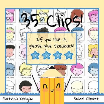 Cute Kids Clip Art - Katrina Keegan Clips - (35 images clipart )