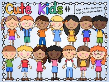Cute Kids Clipart Set 1