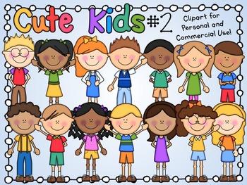 Cute Kids Clipart Set 2
