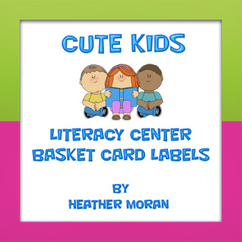 Cute Kids Literacy Center Station Cards