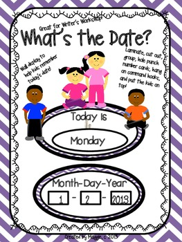 """Cute Kids """"What's the Date?"""" Writer's Workshop Posters"""