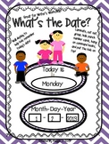 "Cute Kids ""What's the Date?"" Writer's Workshop Posters"