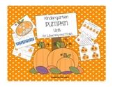 Cute Kindergarten Math and ELA Pumpkin Unit