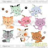 Cute Kittens- Clipart Set
