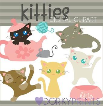 Cute Kitties Clip Art Images