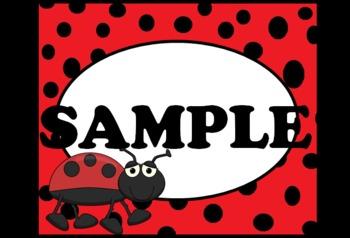 Cute Ladybug labels