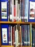 Cute Library Organization Shelf Divider Sign Set of 40