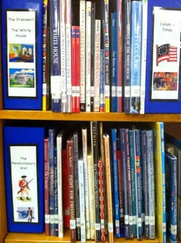 Cute Library Organization Sign Shelf Divider Set of 40 SET 2