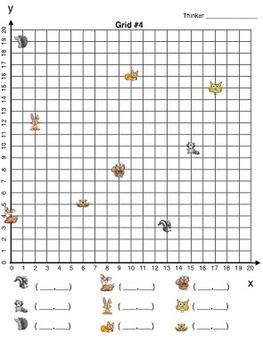 Cute Lil Critters Coordinate Grids