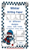 Cute Winter Lined Writing Paper