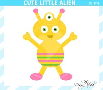 Cute Little Alien Clip Art - Commercial Use Clipart