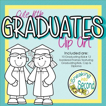 Cute Little Graduates Clip Art