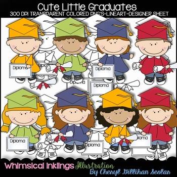 Cute Little Graduates Clipart