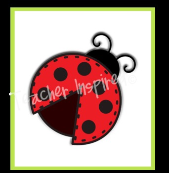 Cute Little Ladybugs Clipart Pack