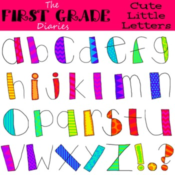 Cute Little Letters {Digital Clip Art} Alphabet