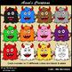 Cute Little Monsters Clip Art