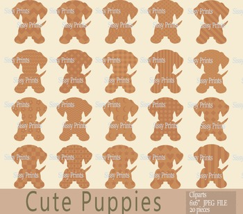 Cute Little Puppies Clip Arts
