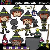 Cute Little Witch Friends Clipart {Scrappin Doodles Clip Art}