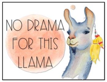 Cute Llama Decor Set