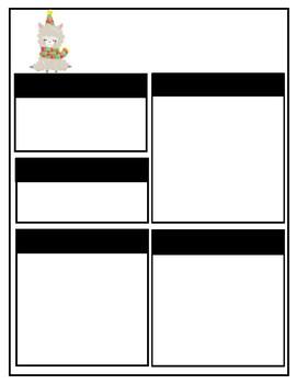 Cute Llama or Alpaca Editable Teacher Newsletter Template