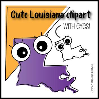 Cute Louisiana Clipart with eyes!