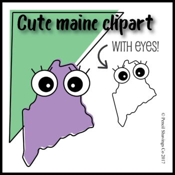 Cute Maine Clipart with Eyes!