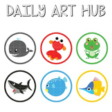 Cute Marine Animals Clip Art - Great for Art Class Projects!