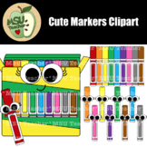 Cute Markers Clipart