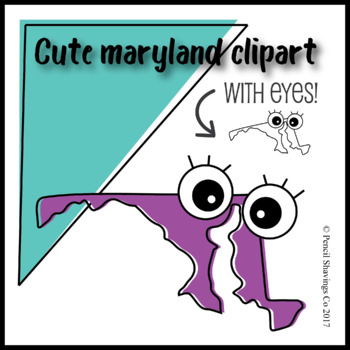 Cute Maryland Clipart with Eyes!