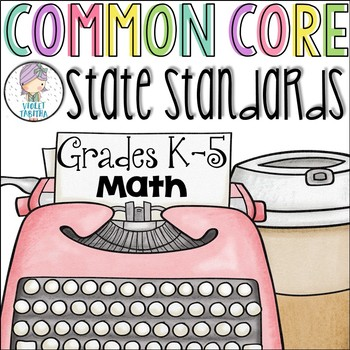 Grades K-5 Math Common Core Checklist for Multiple Grades