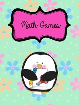 ***Cute Math Games Penguin Binder Cover***