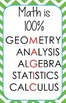 Cute Math Posters Bright Chevron Middle and High School