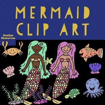 Cute Mermaid Clip Art