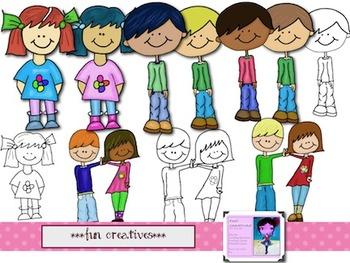 Cute Middle School- Clip Art set