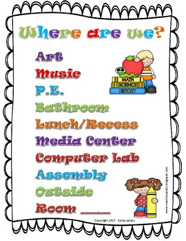 Cute Mini Poster to Let Others Know Where to Find Your Class