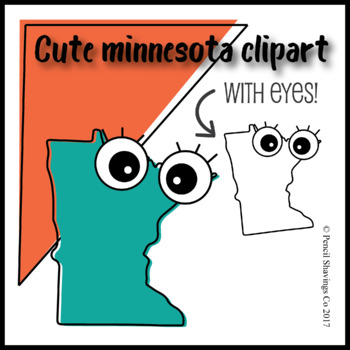 Cute Minnesota Clipart with Eyes!